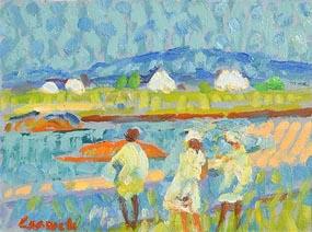 Desmond Carrick, Across the Bay, Carraroe at Morgan O'Driscoll Art Auctions