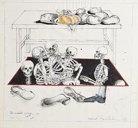 Michael Farrell, The Wounded Wonder (1987) at Morgan O'Driscoll Art Auctions