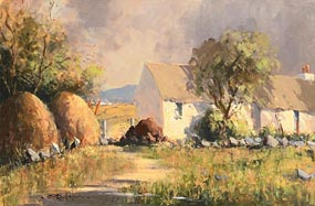 George Gillespie, Farmhouse with Haystacks at Morgan O'Driscoll Art Auctions