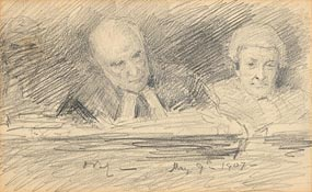 John Butler Yeats, The Courtroom (1907) at Morgan O'Driscoll Art Auctions