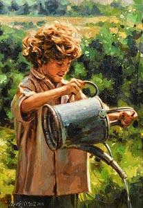 Mark O'Neill, The Young Gardener at Morgan O'Driscoll Art Auctions