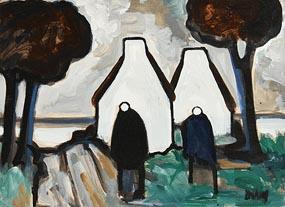 Markey Robinson, Shawlies and Gable Ends at Morgan O'Driscoll Art Auctions