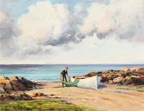 Charles J. McAuley, Cleaning the Net at Morgan O'Driscoll Art Auctions