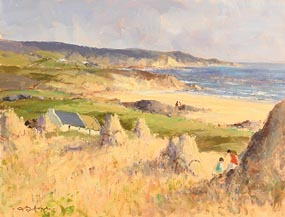 George Gillespie, September Morning on Road to Bundoran, Co. Donegal at Morgan O'Driscoll Art Auctions
