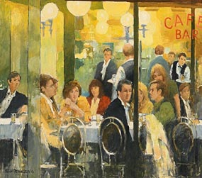 Brian Dennington, Cafe Bar at Morgan O'Driscoll Art Auctions