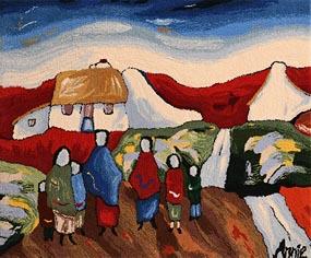 Annie Robinson, Shawlies in the Village at Morgan O'Driscoll Art Auctions
