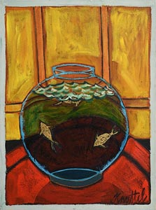 Graham Knuttel, Goldfish Bowl at Morgan O'Driscoll Art Auctions