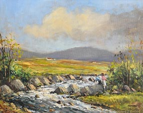 Norman J. McCaig, Connemara Trout Stream at Morgan O'Driscoll Art Auctions