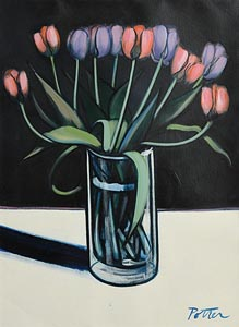 George Potter, Tulips at Morgan O'Driscoll Art Auctions