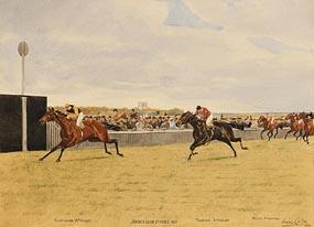 Isaac Cullin, The Jockey Club Stakes (1913) at Morgan O'Driscoll Art Auctions
