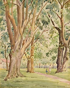 Harry Aaron Kernoff, Parkland Stroll at Morgan O'Driscoll Art Auctions