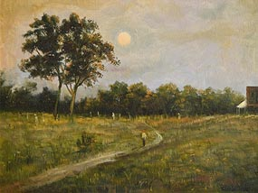 Ciaran Clear, Walking in the Moonlight at Morgan O'Driscoll Art Auctions