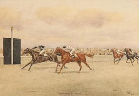 Isaac Cullin, The Gold Cup, Ascot 1936 at Morgan O'Driscoll Art Auctions