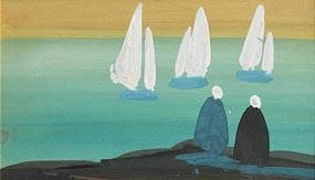 Markey Robinson, Watching the Boats at Morgan O'Driscoll Art Auctions