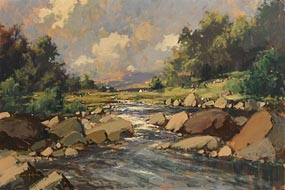 George K. Gillespie, Cashla River, Connemara at Morgan O'Driscoll Art Auctions