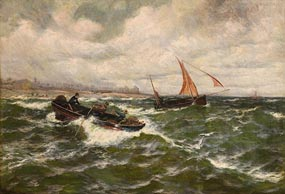 Thomas Rose Miles, Battling the Swell at Morgan O'Driscoll Art Auctions