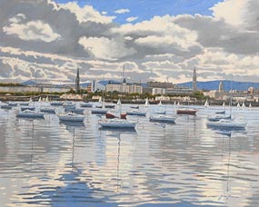 John Kirwan, Dun Laoghaire Harbour at Morgan O'Driscoll Art Auctions