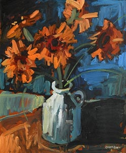 Colin Davidson, Still Life - Flowers in a Vase at Morgan O'Driscoll Art Auctions