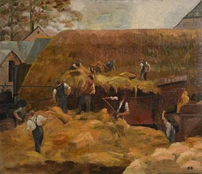 Pheobe Donovan, Threshing at Morgan O'Driscoll Art Auctions