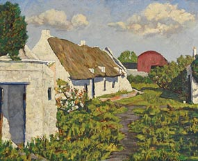 Ciaran Clear, Old Cottage - Rush (1952) at Morgan O'Driscoll Art Auctions