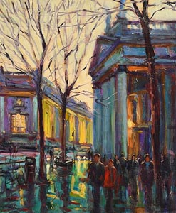 Norman Teeling, College Green, Dublin at Morgan O'Driscoll Art Auctions