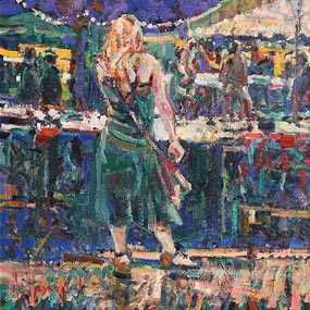Arthur K. Maderson, The Night Market, Anduze, France at Morgan O'Driscoll Art Auctions