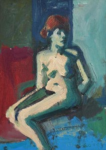 Brian Ballard, Seated Nude (2016) at Morgan O'Driscoll Art Auctions