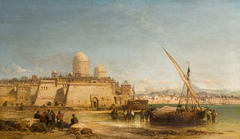 James Webb, The Port of Algiers at Morgan O'Driscoll Art Auctions