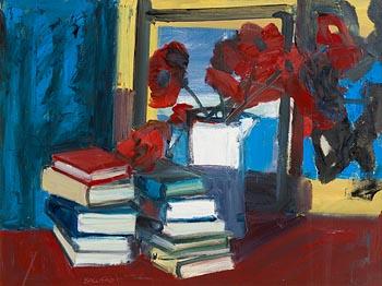 Brian Ballard, Books with Poppies (2010) at Morgan O'Driscoll Art Auctions