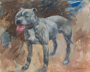 Basil Blackshaw, Bulldog at Morgan O'Driscoll Art Auctions