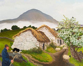 James MacIntyre, Misty Morning Slemish at Morgan O'Driscoll Art Auctions