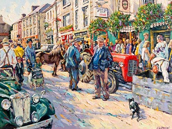 James S. Brohan, Fair Day, Kenmare at Morgan O'Driscoll Art Auctions
