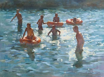Laura Cronin, August Bank Holiday, Sandycove at Morgan O'Driscoll Art Auctions