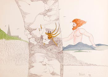 Pauline Bewick, Luke Kelly and Spider (1993) at Morgan O'Driscoll Art Auctions