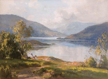 Frank McKelvey, Lough Conn at Morgan O'Driscoll Art Auctions