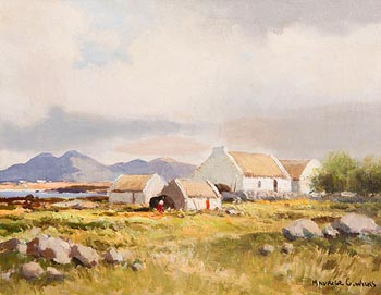 Maurice Canning Wilks, Cottages, Connemara at Morgan O'Driscoll Art Auctions