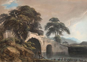 Thomas Walmsley, Figures by a Stream (1804) at Morgan O'Driscoll Art Auctions