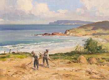 Maurice Canning Wilks, Hay Making, White-Park Bay, Co Antrim at Morgan O'Driscoll Art Auctions