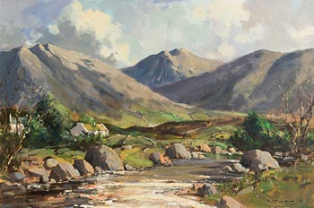 George K. Gillespie, Shimna River, Mourne Mountains at Morgan O'Driscoll Art Auctions
