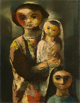 Daniel O'Neill, Woman and Two Children at Morgan O'Driscoll Art Auctions
