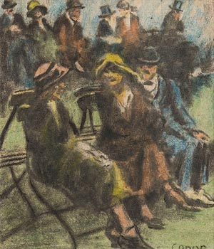 William Conor, At the Races, Comber, Co Down at Morgan O'Driscoll Art Auctions