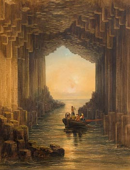 Andrew Nicholl, Fingal's Cave, Isle of Staffa, Scotland at Morgan O'Driscoll Art Auctions