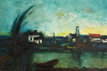 Daniel O'Neill, The Canal at Morgan O'Driscoll Art Auctions