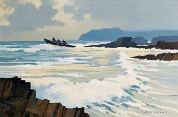 John Skelton, Riding the Waves at Morgan O'Driscoll Art Auctions