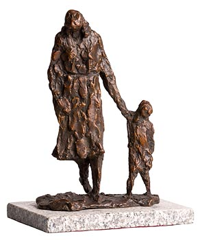 Melanie Le Brocquy, Child and Mother Walking (1988) at Morgan O'Driscoll Art Auctions