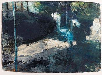 Donald Teskey, Night Walkers (1998) at Morgan O'Driscoll Art Auctions