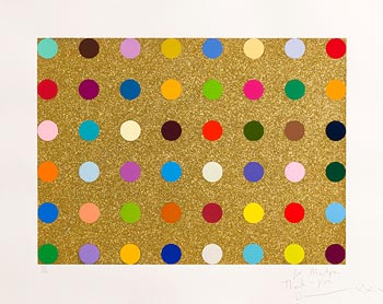 Damien Hirst, Untitled Gold Gift Spot (2008) at Morgan O'Driscoll Art Auctions