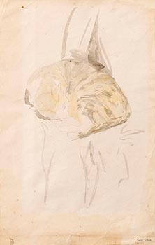 Gwen John, Sleeping Tabby (1905-8) at Morgan O'Driscoll Art Auctions