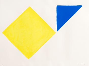 William Scott, Yellow Square plus Quarter Blue, from A Poem for Alexander (1972) at Morgan O'Driscoll Art Auctions