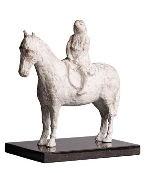 Melanie Le Brocquy, Horse and Rider (1994) at Morgan O'Driscoll Art Auctions